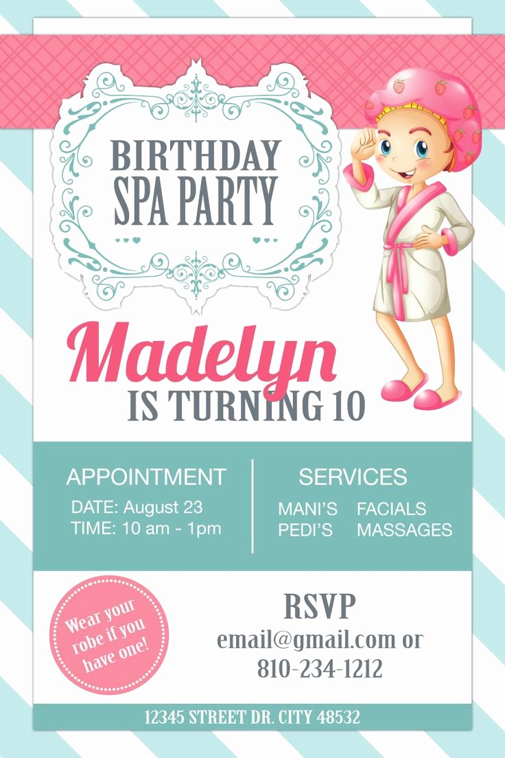 Spa Party Invite Template Inspirational Best 25 Spa Party Invitations Ideas On Pinterest