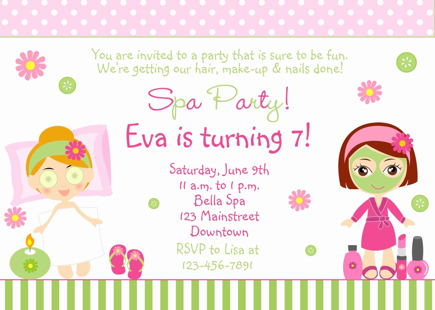 Spa Party Invite Template Inspirational Free Spa Party Invitations Printables Girls – Invitetown