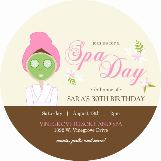 Spa Party Invite Template Inspirational Spa Party Invitation