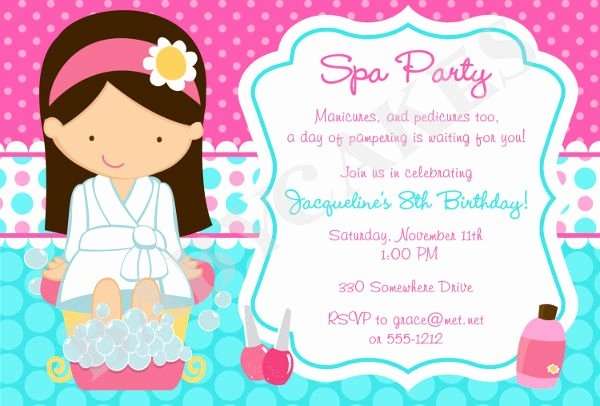 Spa Party Invite Template Lovely 12 Spa Party Invitations Psd Ai Word