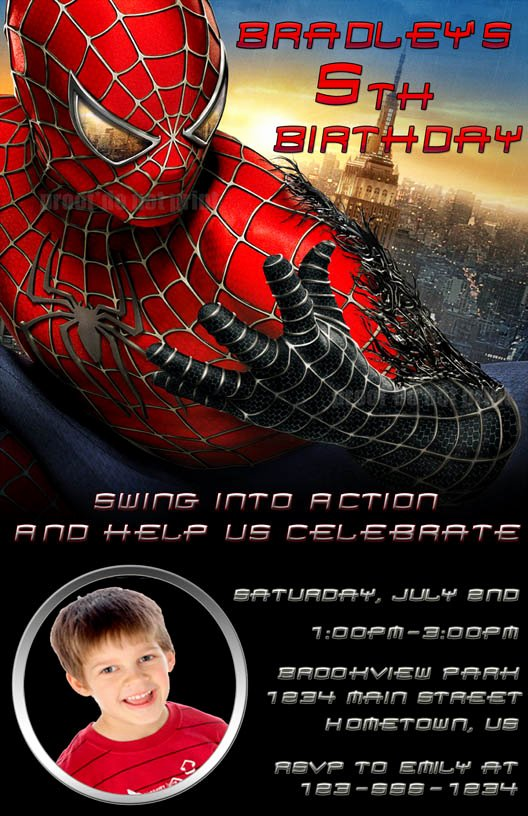 Spiderman Birthday Invitation Template Awesome 40th Birthday Ideas Birthday Invitation Templates Spiderman
