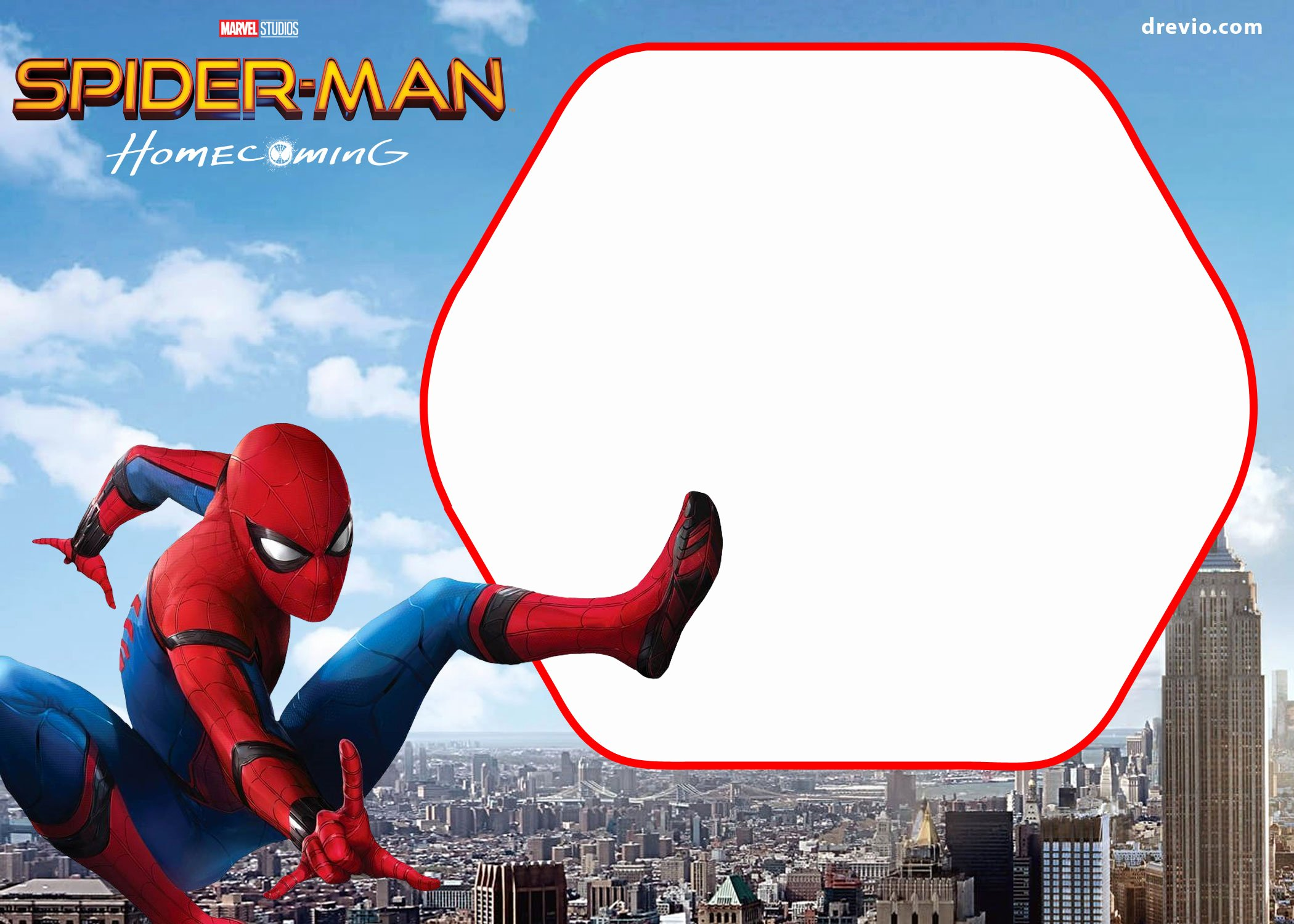 Spiderman Birthday Invitation Template Awesome Free Spiderman Home Ing Invitation Template