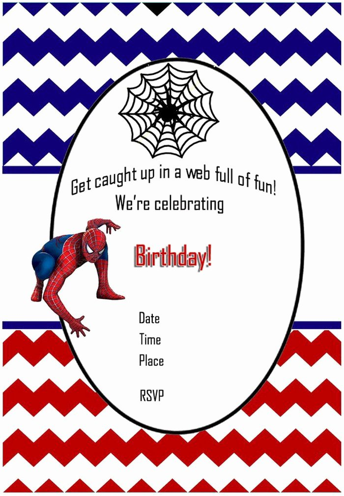 Spiderman Birthday Invitation Template Elegant Free Printable Spiderman Birthday Invitation for Boys
