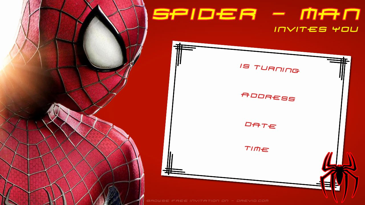Spiderman Birthday Invitation Template Inspirational Free Printable Blank Spiderman Birthday Invitation