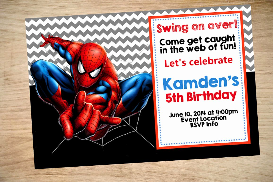 Spiderman Birthday Invitation Template Inspirational Spider Man Birthday Invitation Spider Man Invitation
