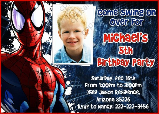 Spiderman Birthday Invitation Template Inspirational Spiderman Birthday Party Invitation by Creativeparty