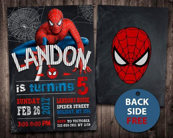 Spiderman Birthday Invitation Template Inspirational Spiderman Invitation Spiderman Birthday Invitation