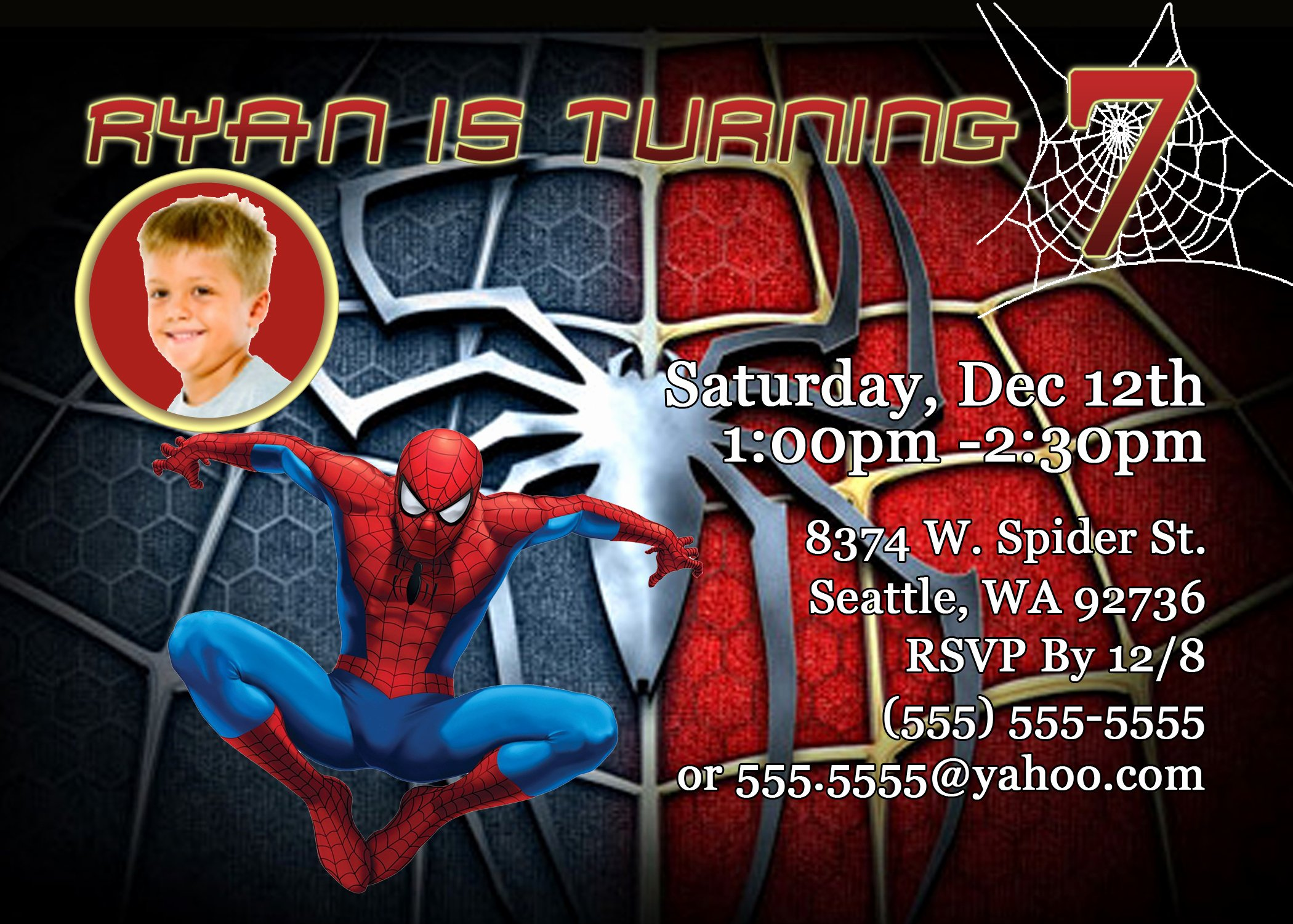 Spiderman Birthday Invitation Template Lovely Kids Birthday Party Invitations Wording