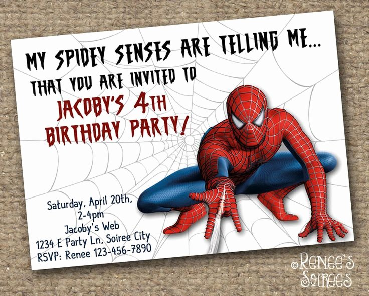 Spiderman Birthday Invitation Template Luxury Logans 7th Birthday Spiderman Invitations