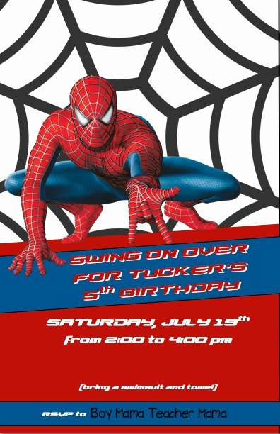 Spiderman Birthday Invitation Template Unique Boy Mama Spiderman Birthday Party Boy Mama Teacher Mama
