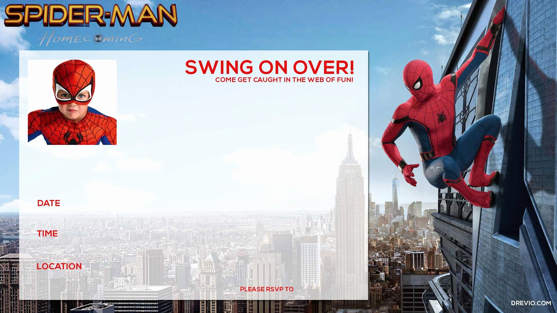 Spiderman Birthday Invitation Template Unique Free Printable Spiderman Birthday Invitations – Free