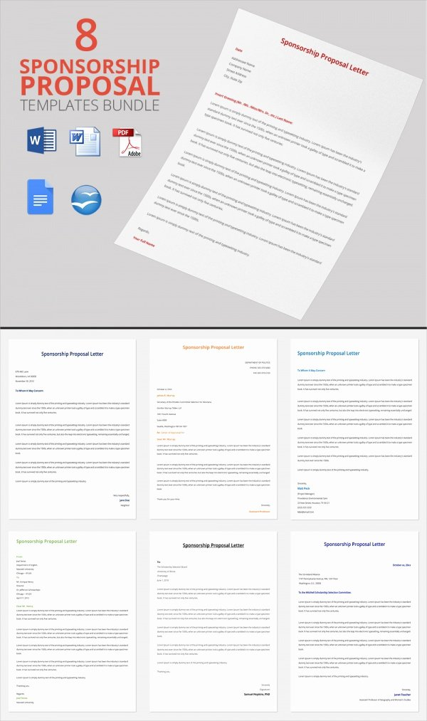 Sponsorship form Template Word Best Of Sample Sponsorship Proposal Template 15 Documents In