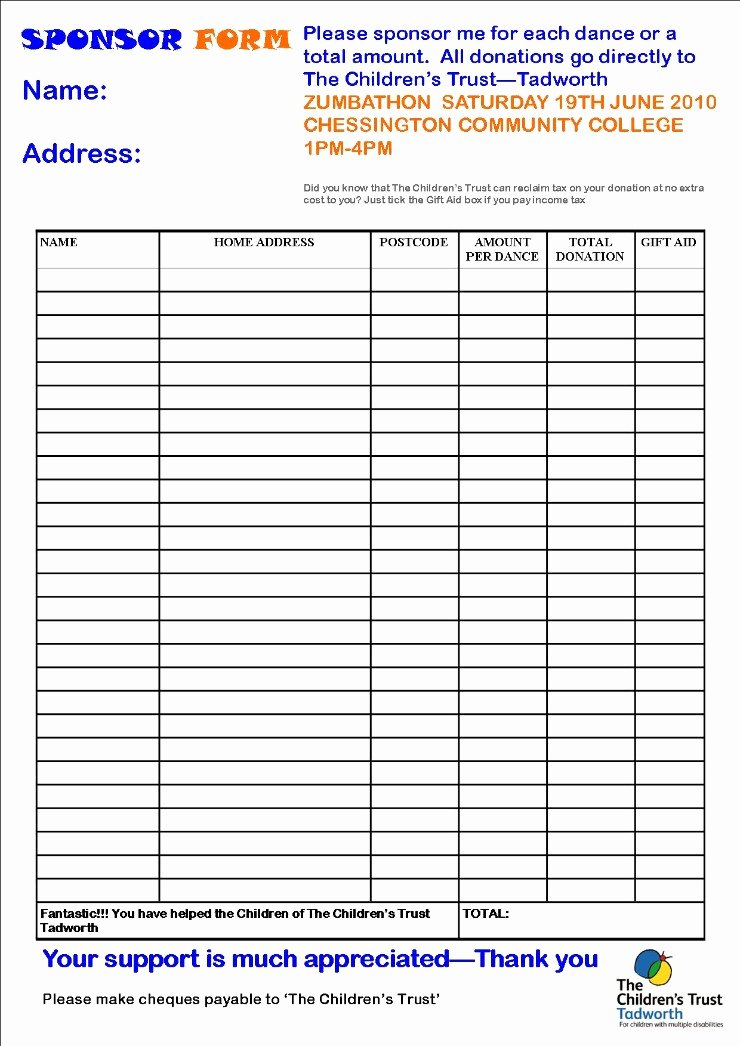 "Sponsorship form Template Word Best Of Search Results for ""sponsor Sheet Template"" – Calendar 2015"