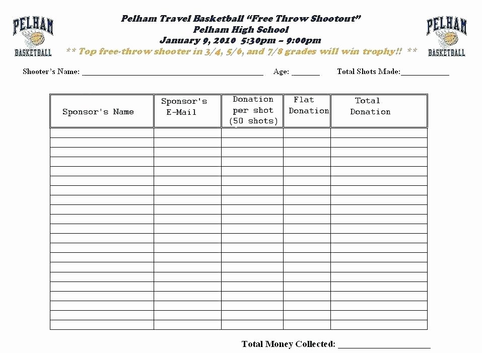 Sponsorship form Template Word Fresh Sponsor Pledge form Template Sponsorship Blank Donation