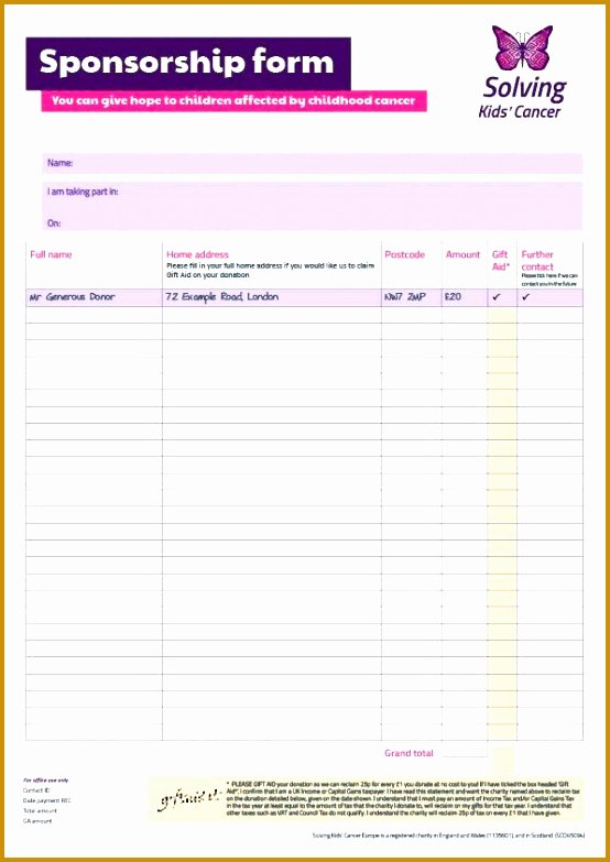 Sponsorship form Template Word Lovely 7 Sponsor form Template Word