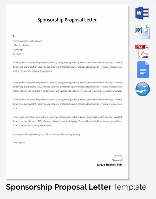 Sponsorship Package Template Free Beautiful 19 Sample Sponsorship Proposal Templates