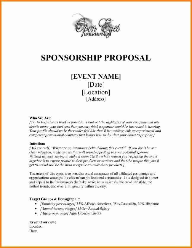Sponsorship Package Template Free Fresh Best 25 Sample Proposal Letter Ideas On Pinterest