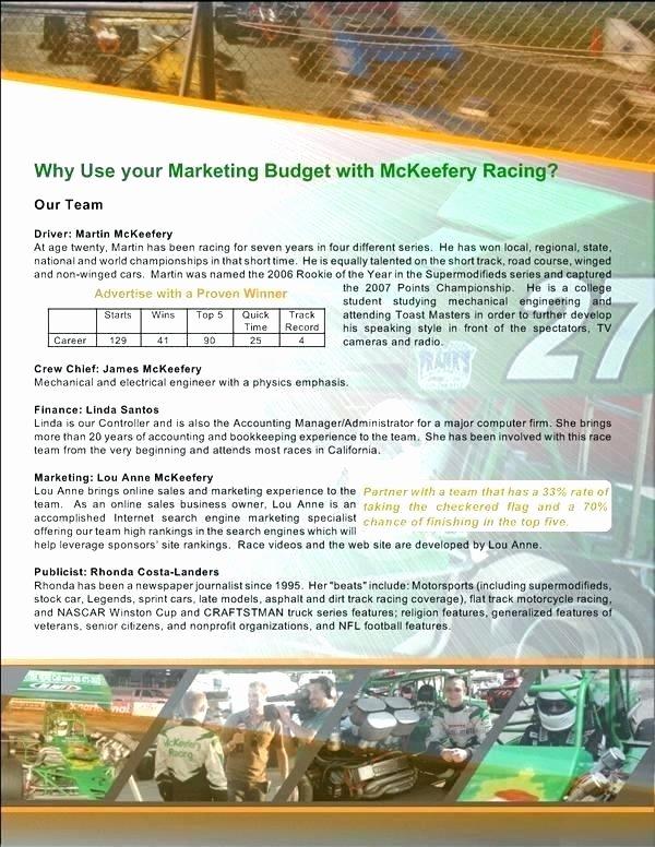 Sponsorship Package Template Free Luxury Sponsorship Packages Templates event Proposal Template