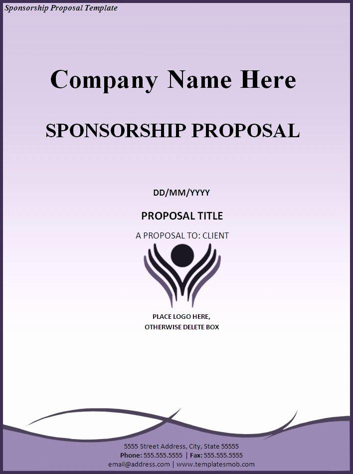 Sponsorship Proposal Template Free Beautiful Sponsorship Proposal Template Word Excel formats