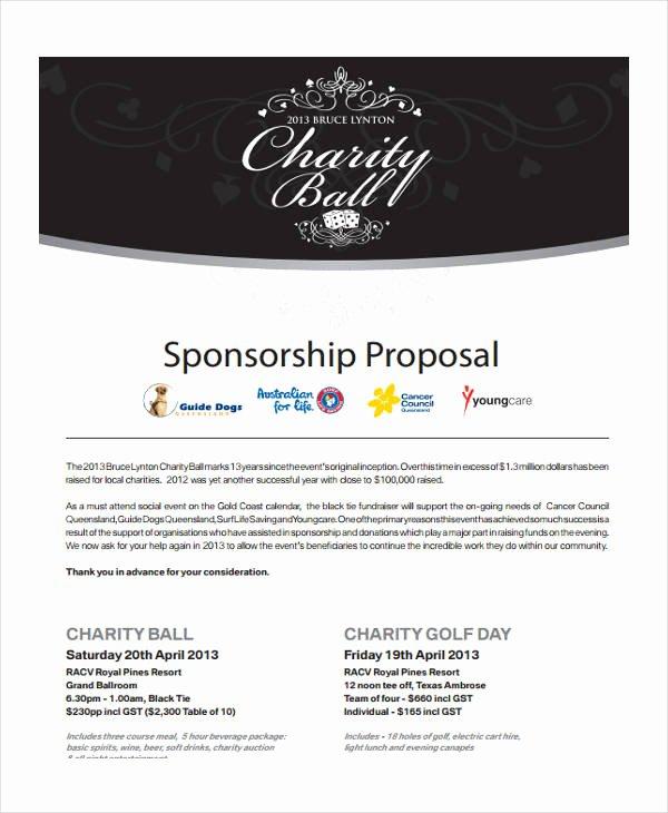 Sponsorship Proposal Template Free Elegant 12 event Sponsorship Proposal Templates Free Sample