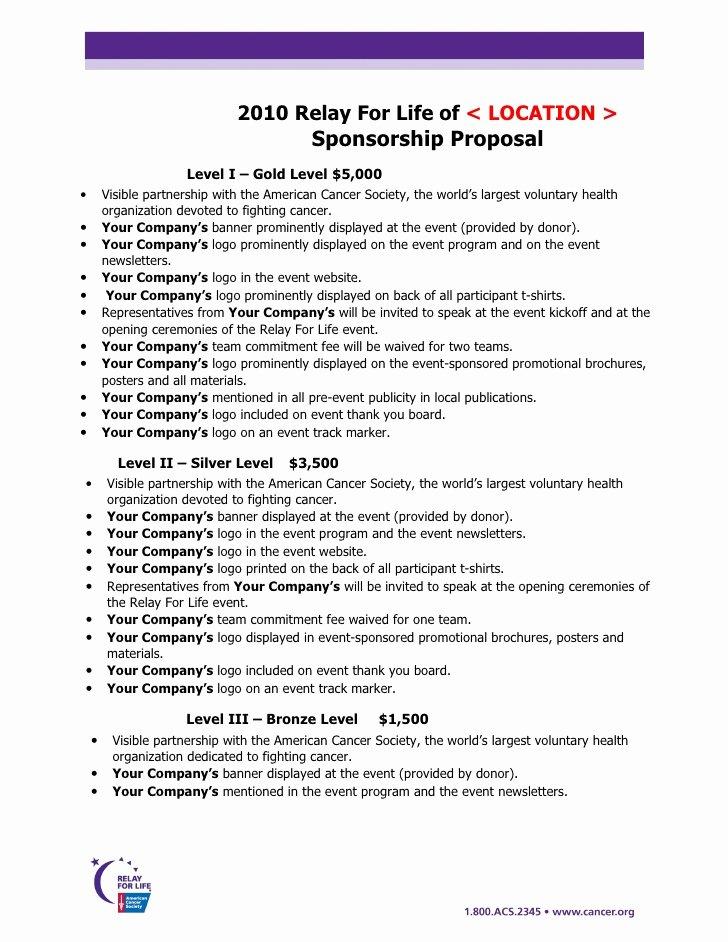 Sponsorship Proposal Template Free Elegant Sponsorship Proposal Template