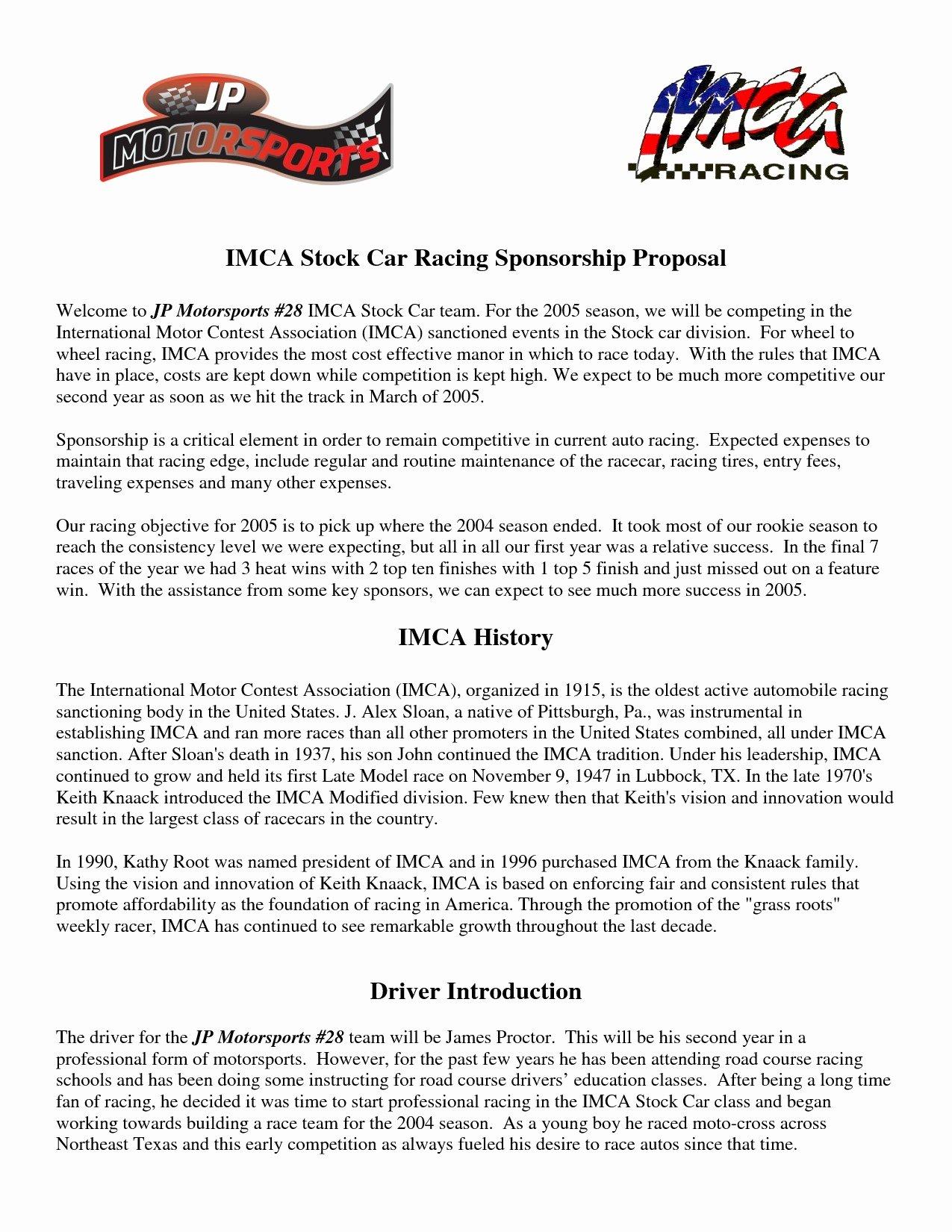 Sponsorship Proposal Template Free Fresh Sponsorship Proposal Letter Template Collection