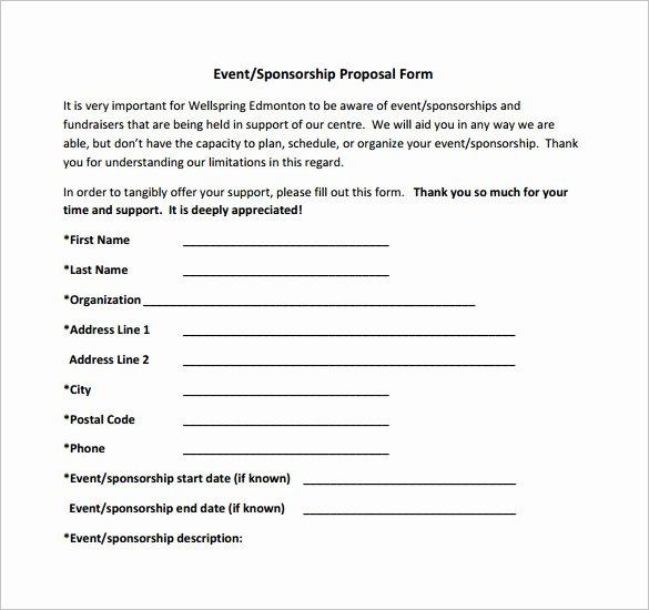 Sponsorship Proposal Template Free Fresh Sponsorship Proposal Template 21 Free Word Excel Pdf