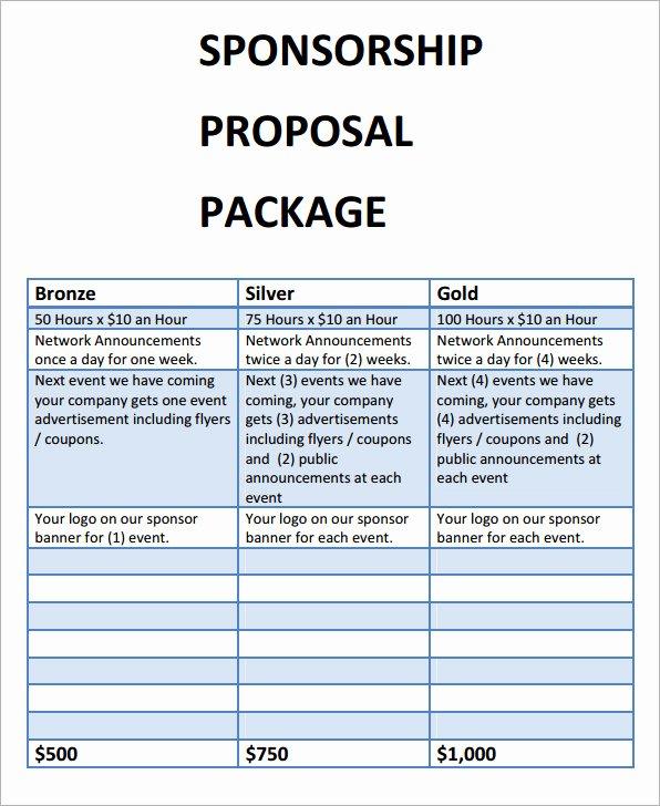 Sponsorship Proposal Template Free Fresh Sponsorship Proposal Template 9 Download Free Documents