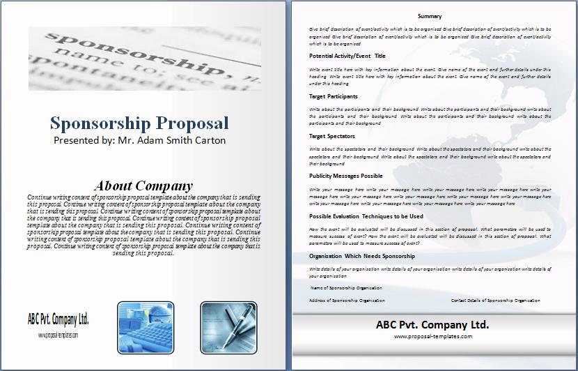 Sponsorship Proposal Template Free Unique Free Sponsorship Proposal Template Free Sponsorship
