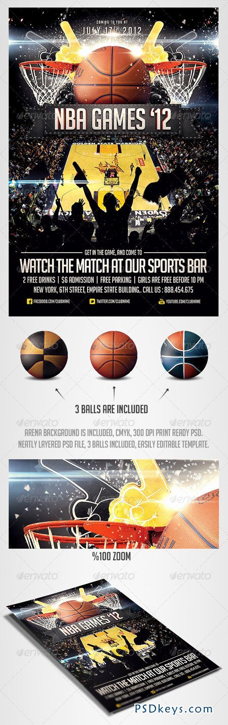Sports Flyer Template Free Awesome Basketball Sports Flyer Template Free Download