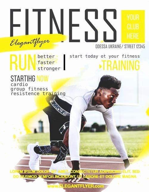 Sports Flyer Template Free Best Of Fitness Sports Free Flyer Template Download Free Flyer