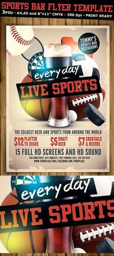 Sports Flyer Template Free Best Of the Best Sports Bar In Every Nfl City