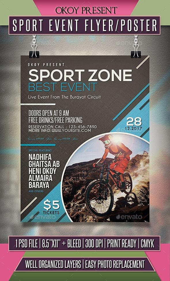 Sports Flyer Template Free Fresh 289 Best Sport Flyer Templates Images On Pinterest