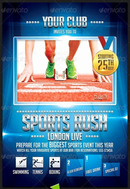 Sports Flyer Template Free Inspirational 20 Electrifying Print Ready Sports Flyer Templates