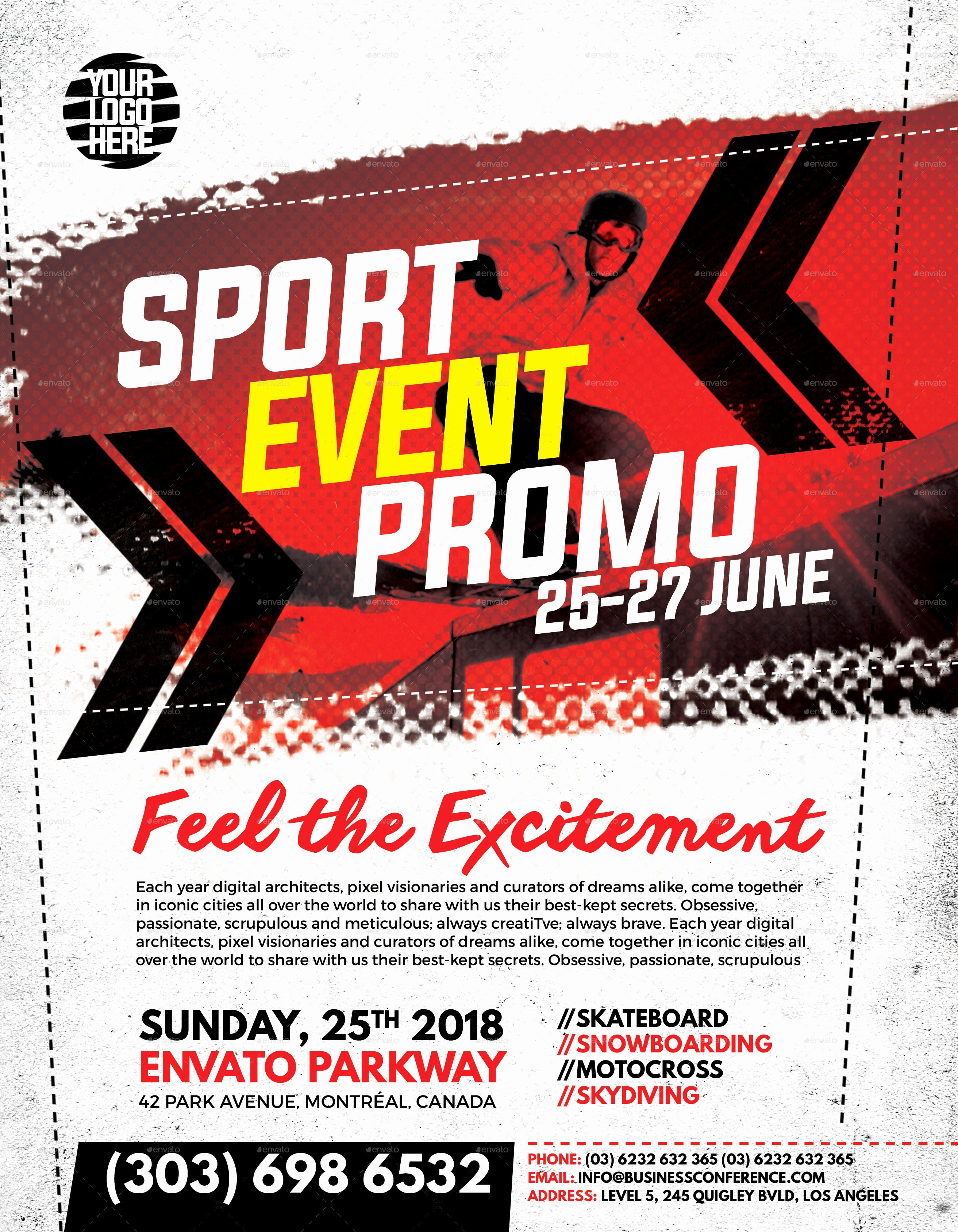 Sports Flyer Template Free Luxury Sport event Promo Flyer by Inddesigner
