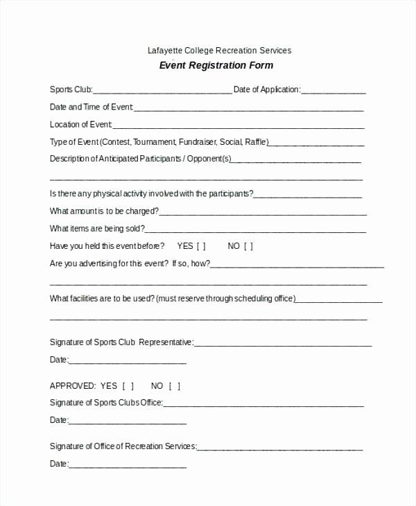 Sports Registration forms Template Elegant Vendor Registration Player form Template Basketball Word