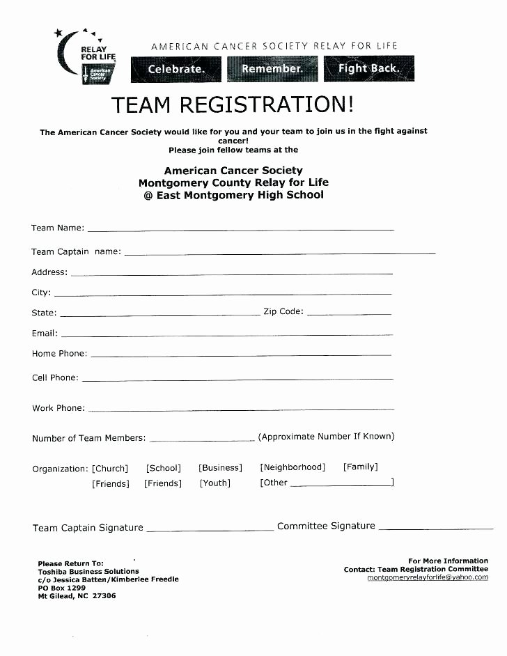 Sports Registration forms Template Lovely Sports Registration form Template