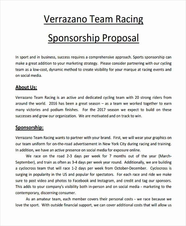 Sports Sponsorship Proposal Template Beautiful 10 Sponsorship Proposal Examples & Samples Pdf Word Pages