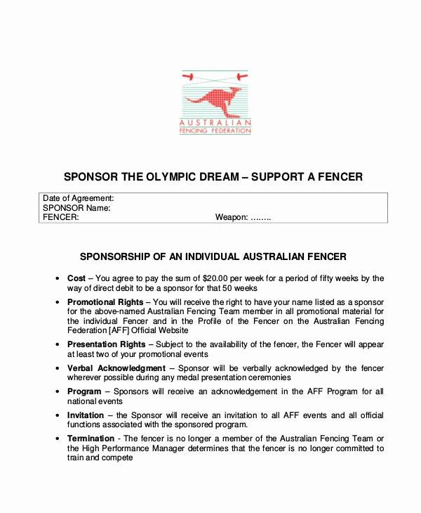 Sports Sponsorship Proposal Template Elegant 15 Samples Of Sponsorship Proposal
