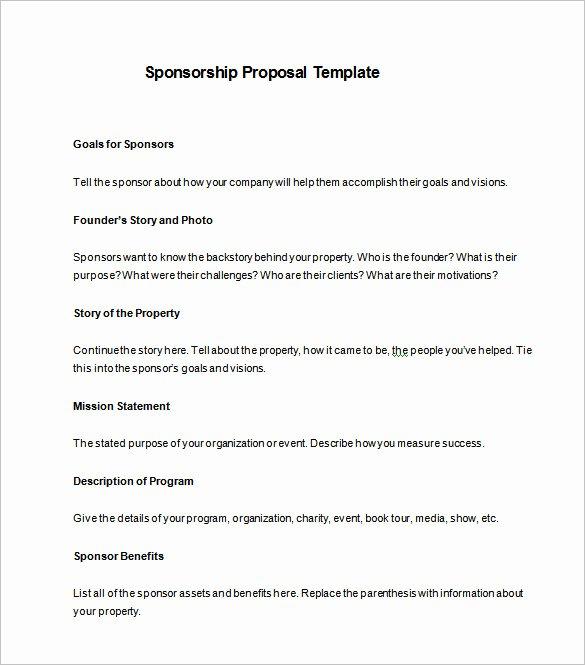 Sports Sponsorship Proposal Template Fresh Sponsorship Proposal Template 21 Free Word Excel Pdf