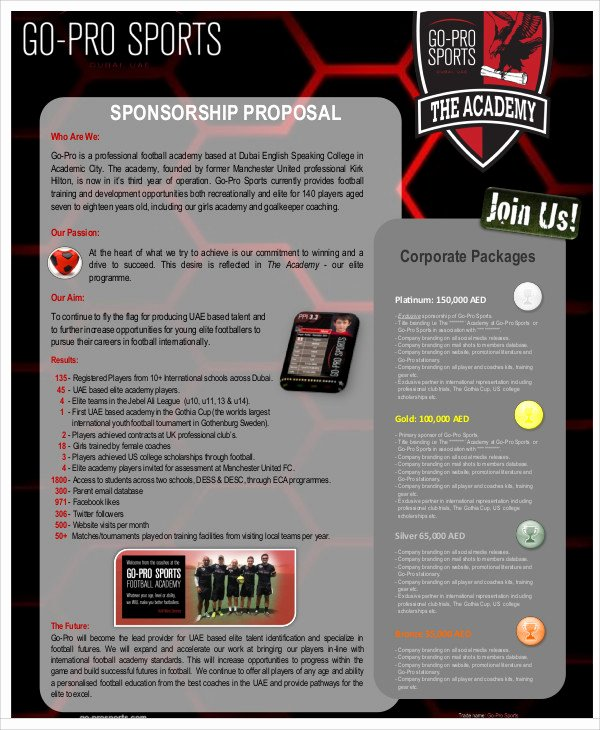 Sports Sponsorship Proposal Template Inspirational 13 Sports Sponsorship Proposal Templates Free Word Pdf