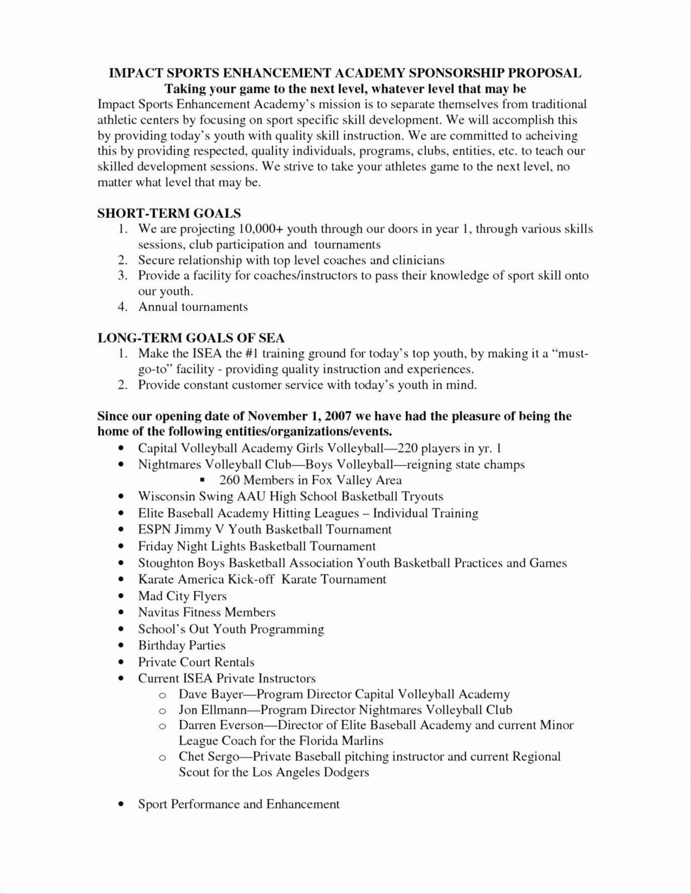 Sports Sponsorship Proposal Template Inspirational event Sponsorship Letter event Sponsorship Letter
