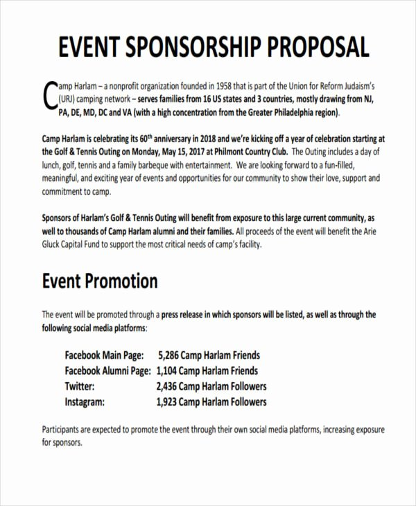 Sports Sponsorship Proposal Template Lovely 10 Sponsorship Proposal Examples & Samples Pdf Word Pages
