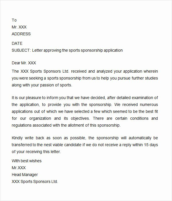 Sports Sponsorship Proposal Template New 8 Free Sample Sponsorship Letters to Download