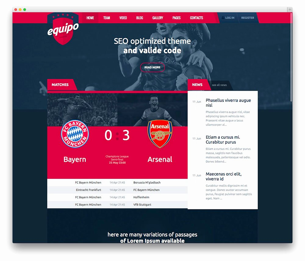Sports Web Site Template Beautiful Best Wordpress Sports themes for Magazines and Sports