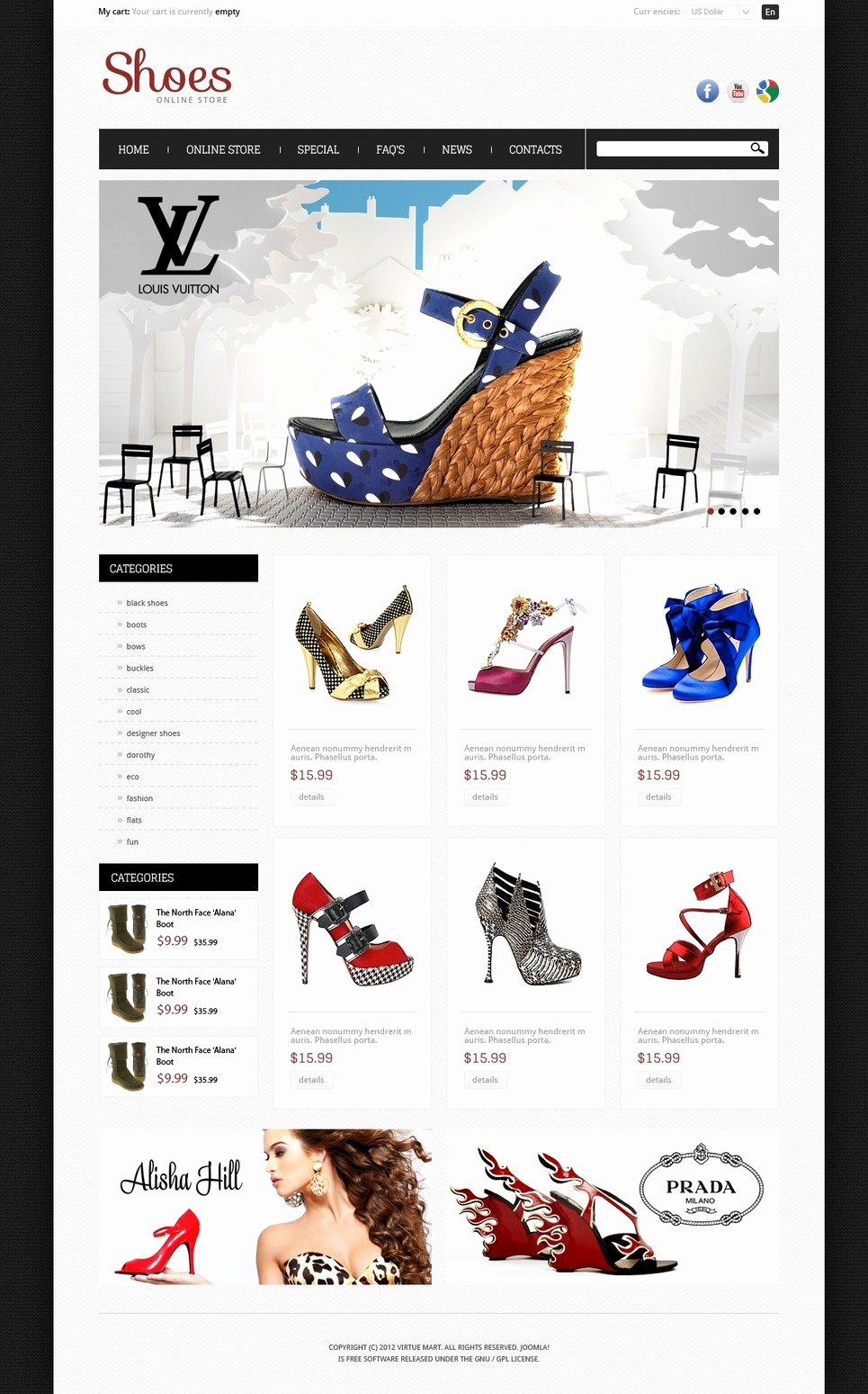 Sports Web Site Template Beautiful Shoes Store Os Merce Template