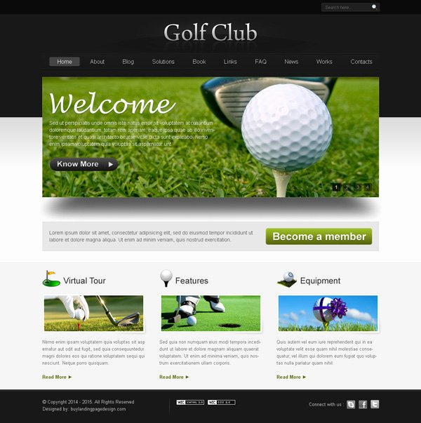 Sports Web Site Template Fresh Golf Club Website Template Design Psd 6