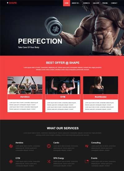 Sports Web Site Template Inspirational Best Free Material Design Templates From Webthemez
