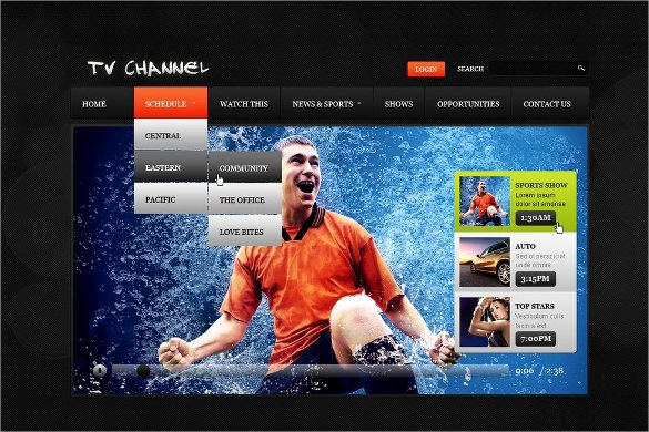 Sports Web Site Template Lovely 15 News Channel HTML5 Website themes & Templates