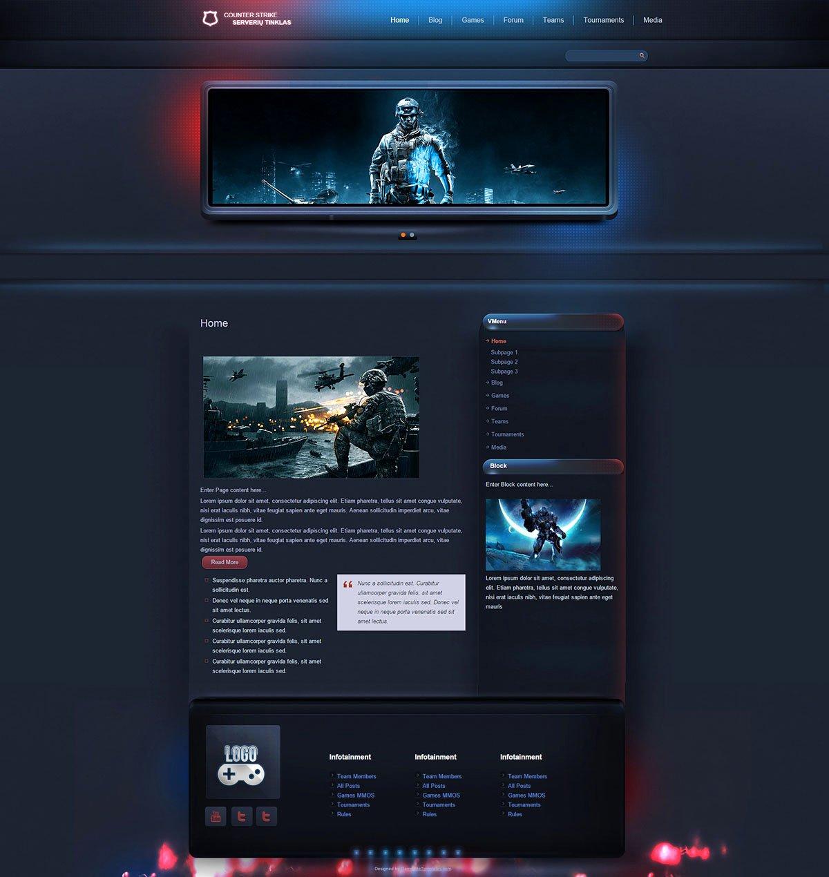 Sports Web Site Template Luxury Esport Gaming Wordpress theme